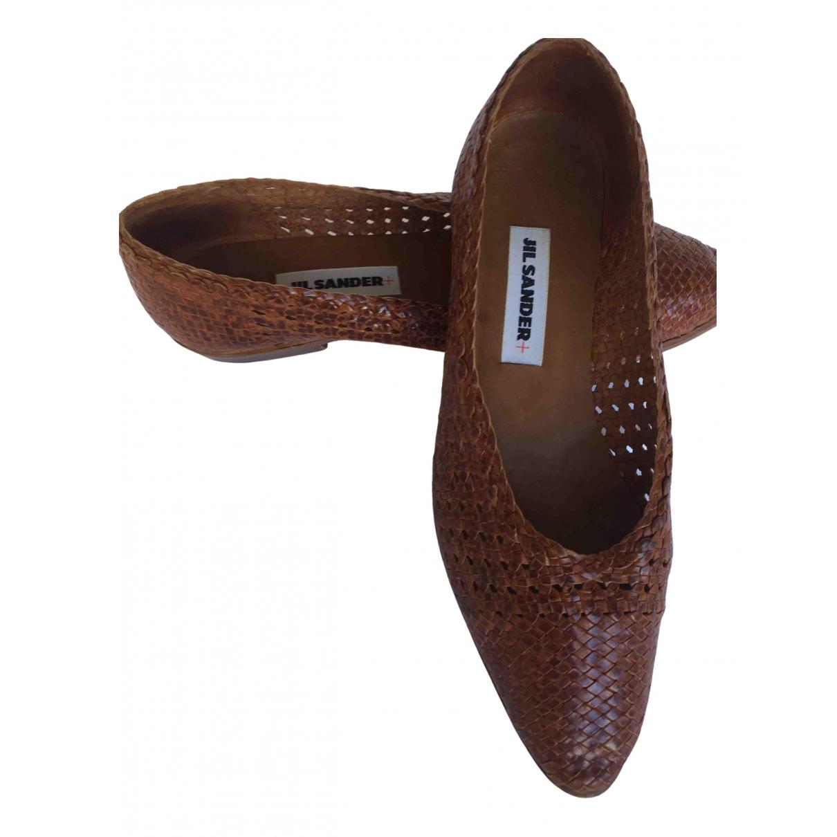 Jil Sander - Escarpins   pour femme en cuir - marron
