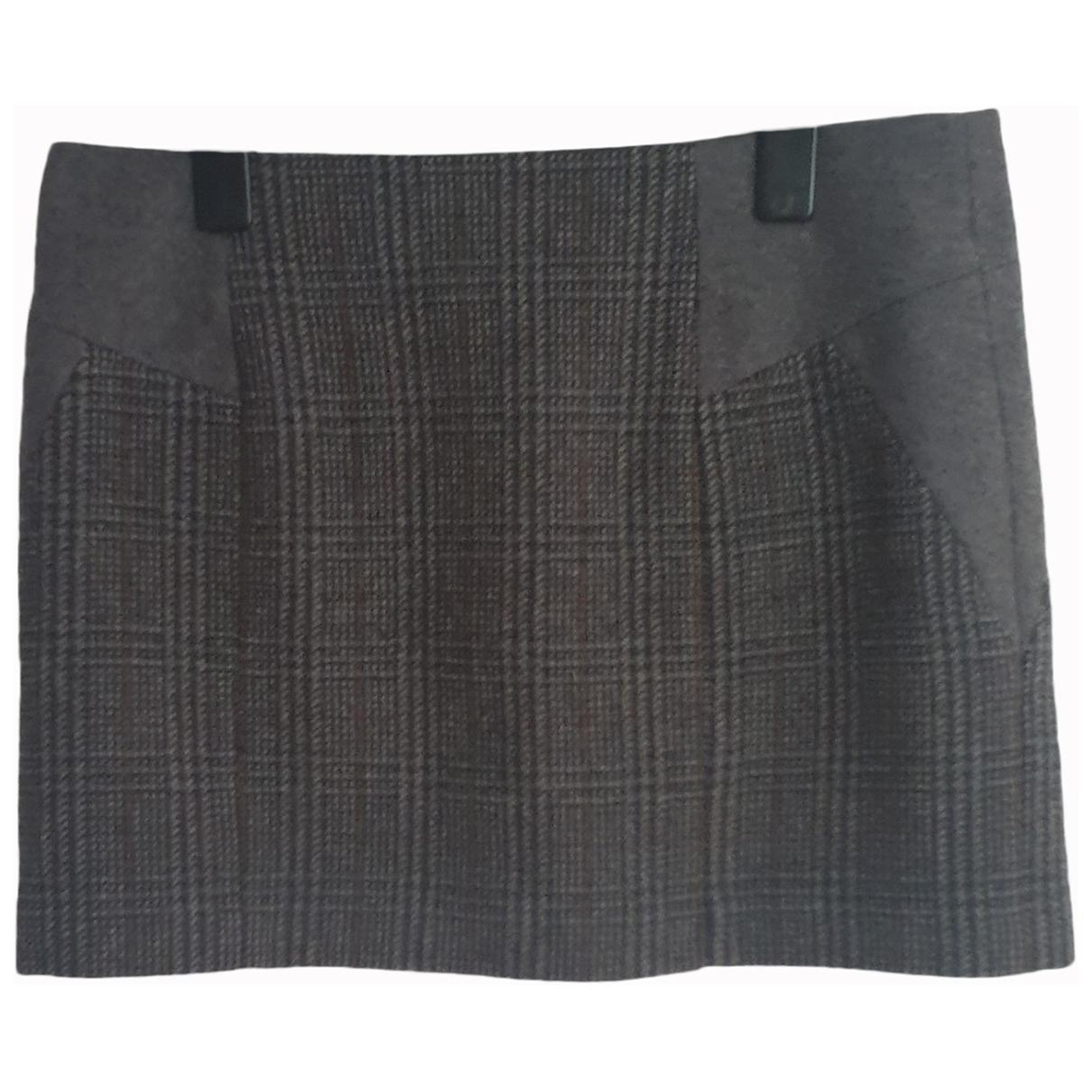 Claudie Pierlot \N Grey Wool skirt for Women 40 FR