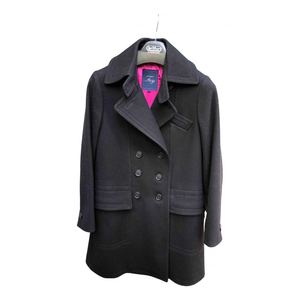 Fay N Black Wool coat for Women M International