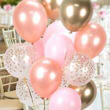 20 Stueck Konfetti & Latex Ballon Set