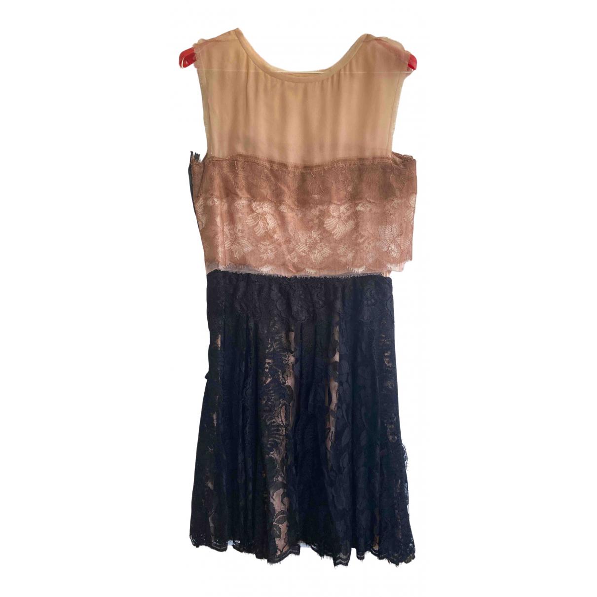 Lanvin \N Kleid in  Beige Viskose