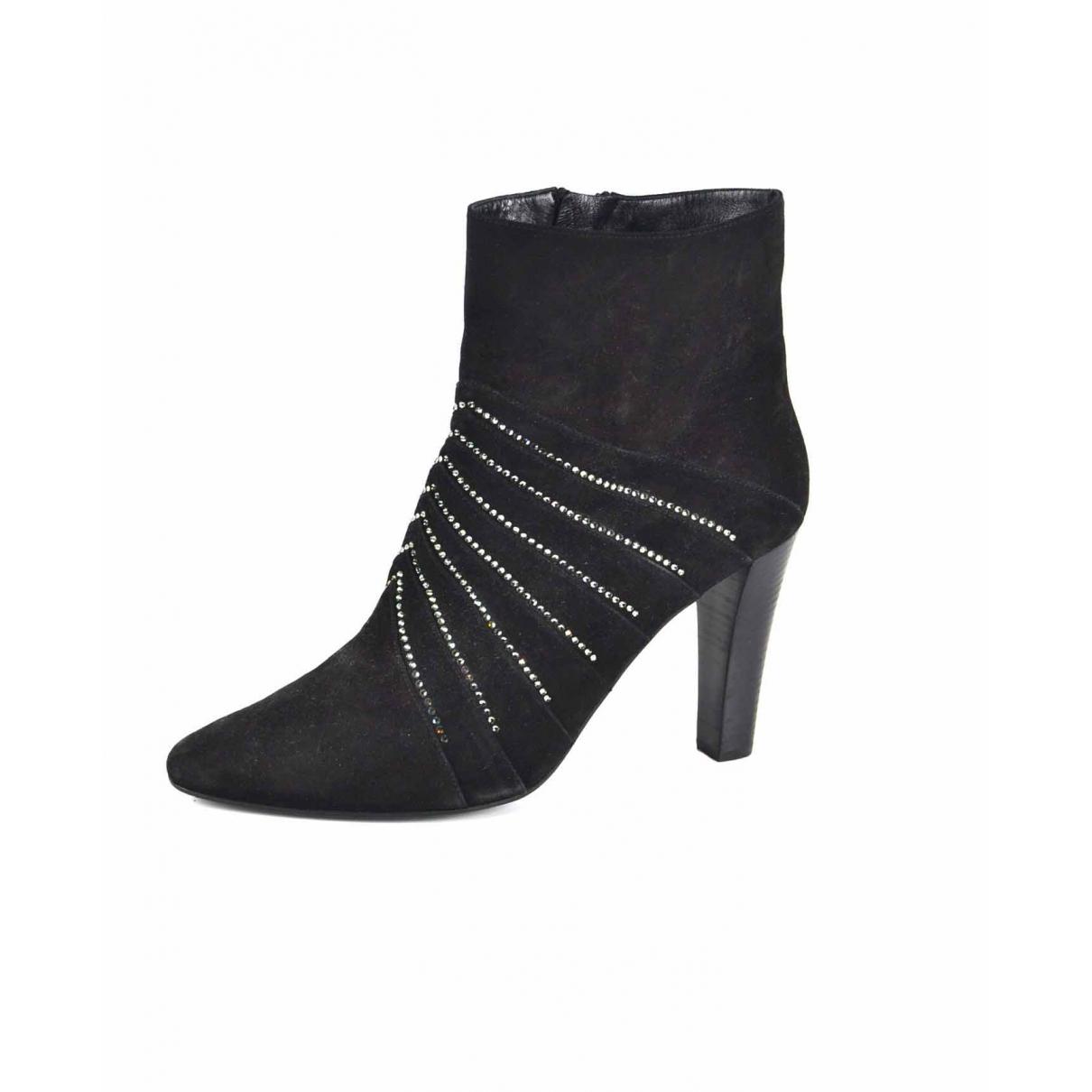 Saint Laurent \N Black Suede Ankle boots for Women 42 EU
