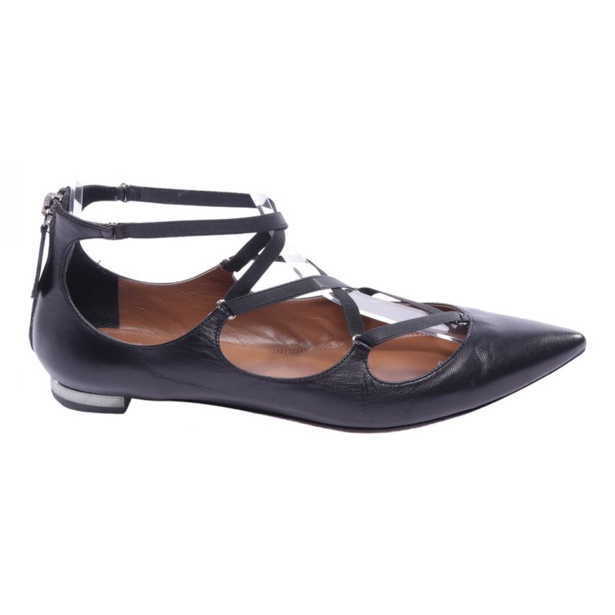 Aquazzura - Baskets   pour femme en cuir - noir