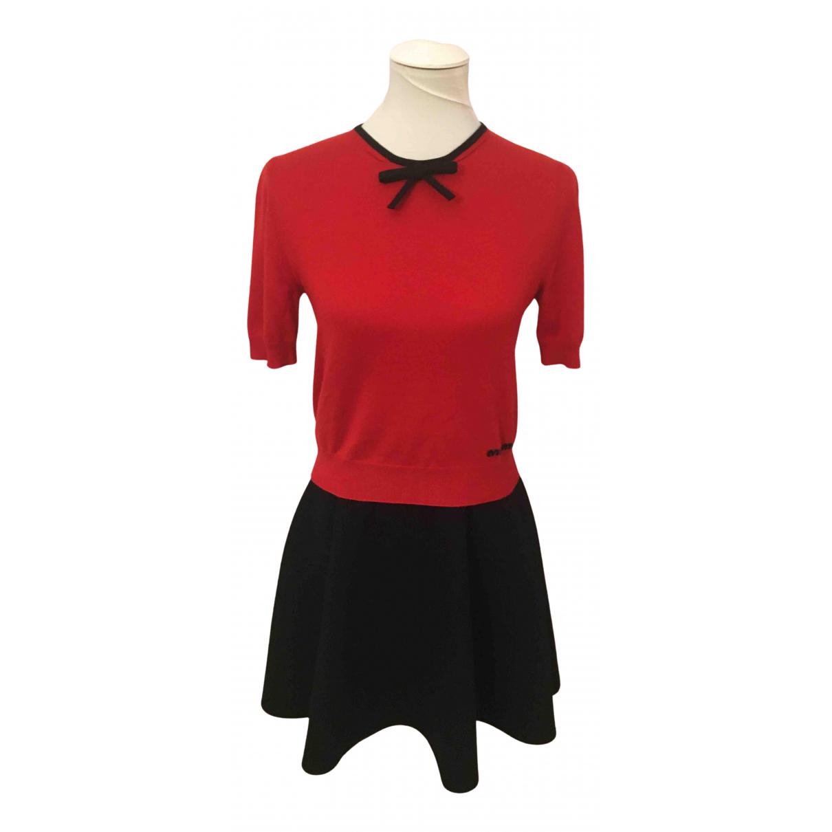 Miu Miu - Pull   pour femme en laine - rouge