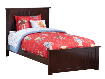 Nantucket Collection AR8226031 Twin Size Traditional Bed with Matching Foot Board  Cottage Style  Foundation Support Boards and Eco-Friendly Solid