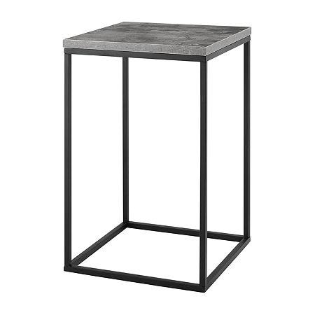Walker Edison Modern End Table, One Size , Gray