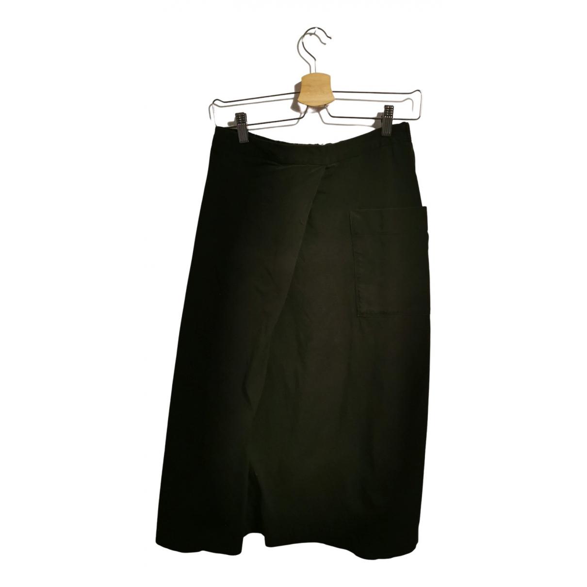 - Jupe   pour femme en coton - elasthane - noir