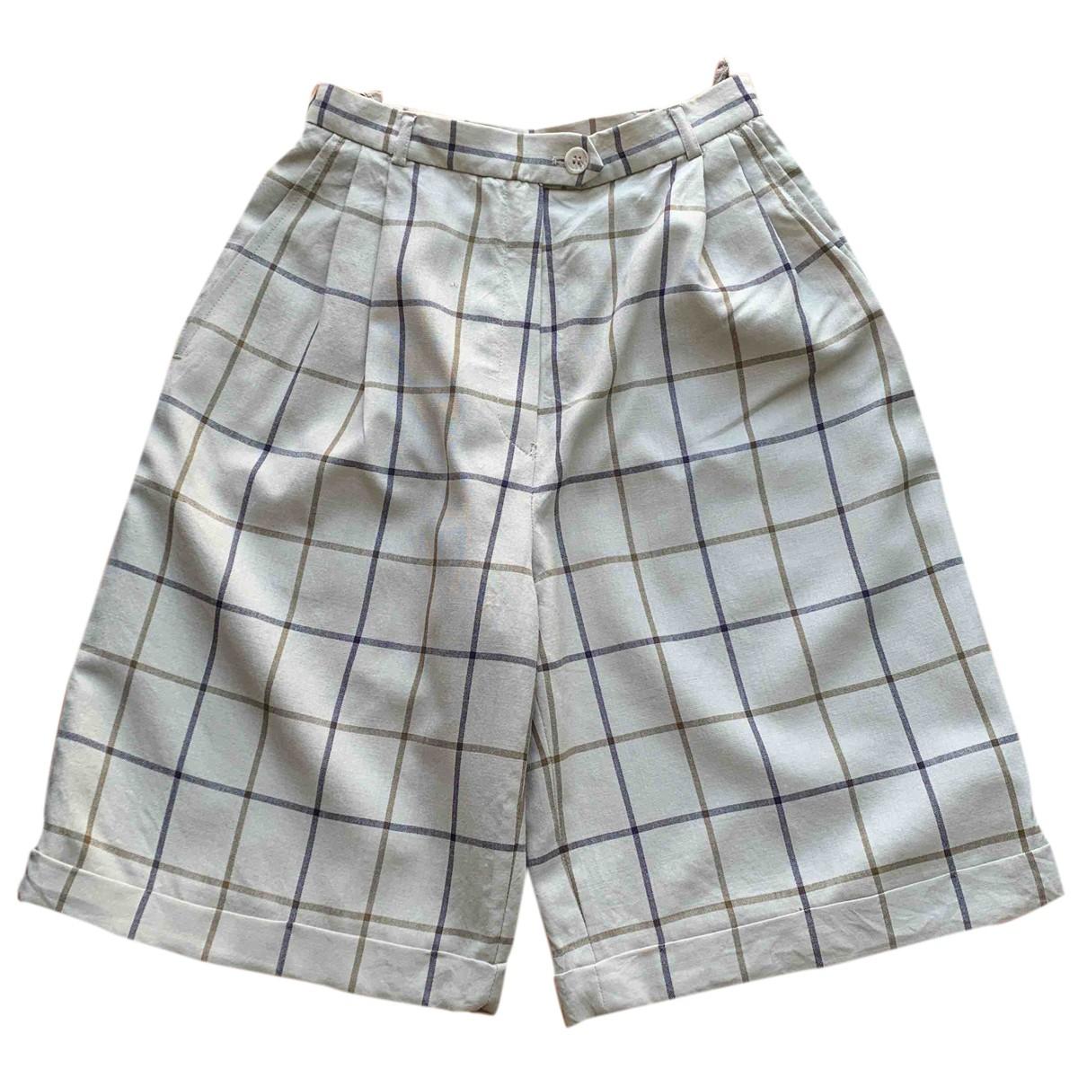 Burberry \N Shorts in  Grau Wolle