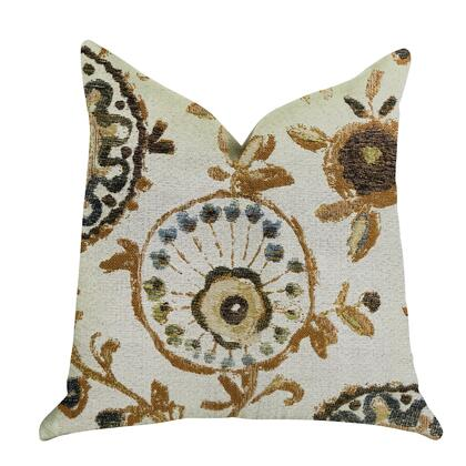 Butternut Collection PBRA1327-2626-DP Double sided  26 x 26 Plutus Daliani Floral Luxury Throw