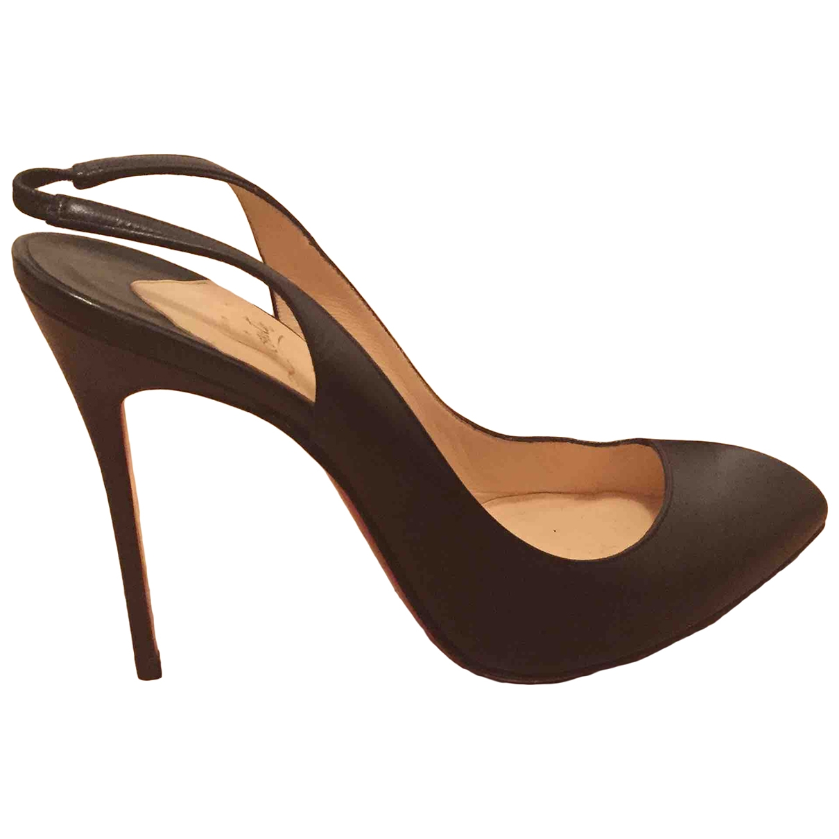 Christian Louboutin Corneille Black Leather Heels for Women 40 EU