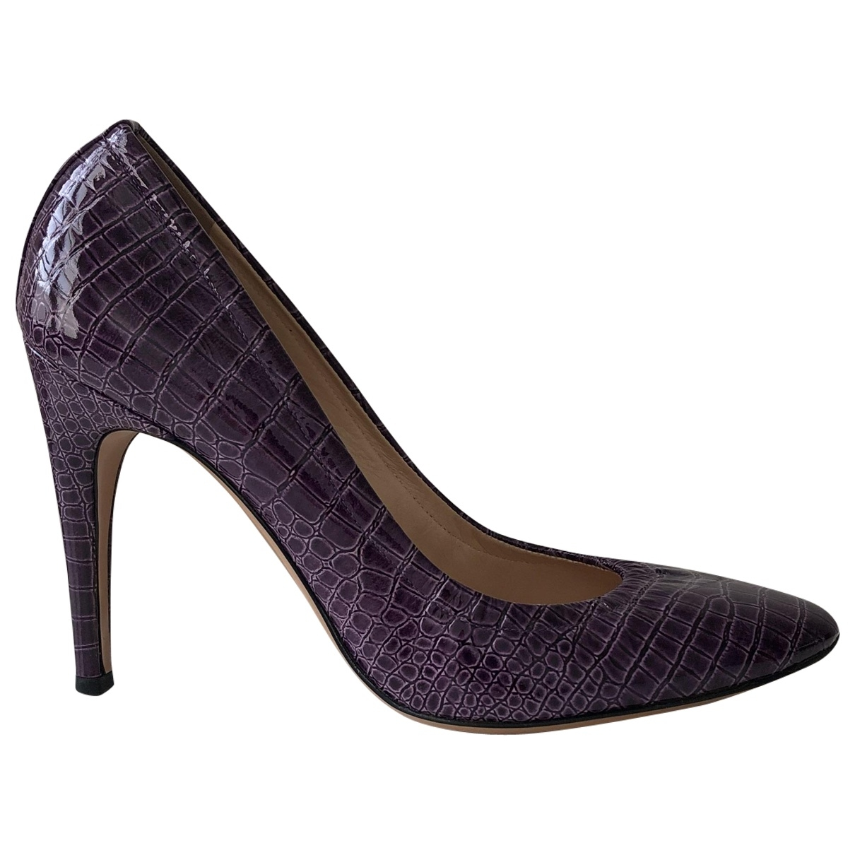 Casadei \N Purple Leather Heels for Women 38.5 EU