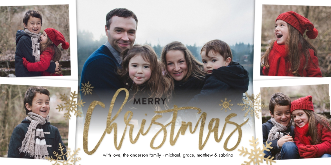 Christmas Photo Cards 4x8 Flat Card Set, 85lb, Card & Stationery -Christmas Script Simple by Tumbalina