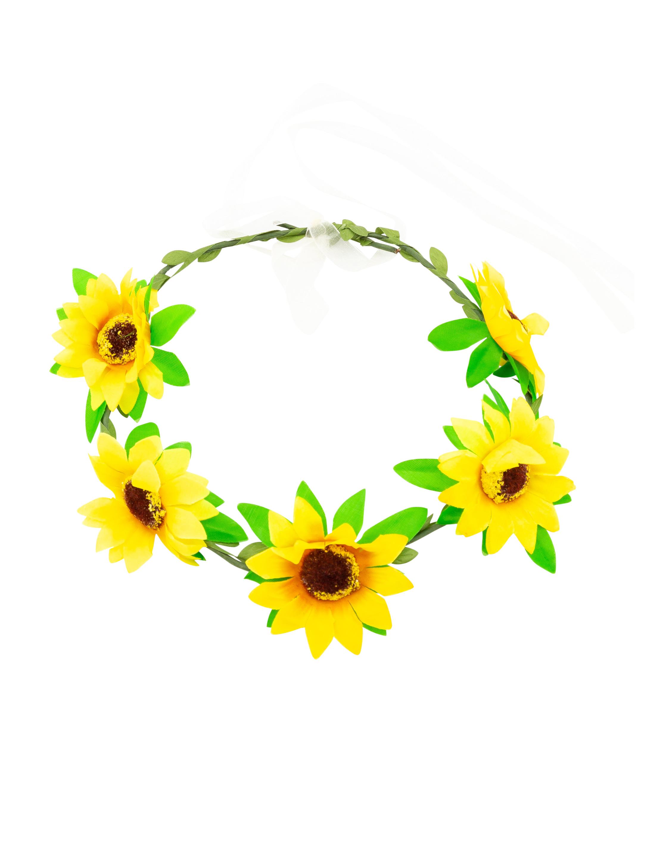 Blumenhaarkranz Sonnenblume Farbe: gelb