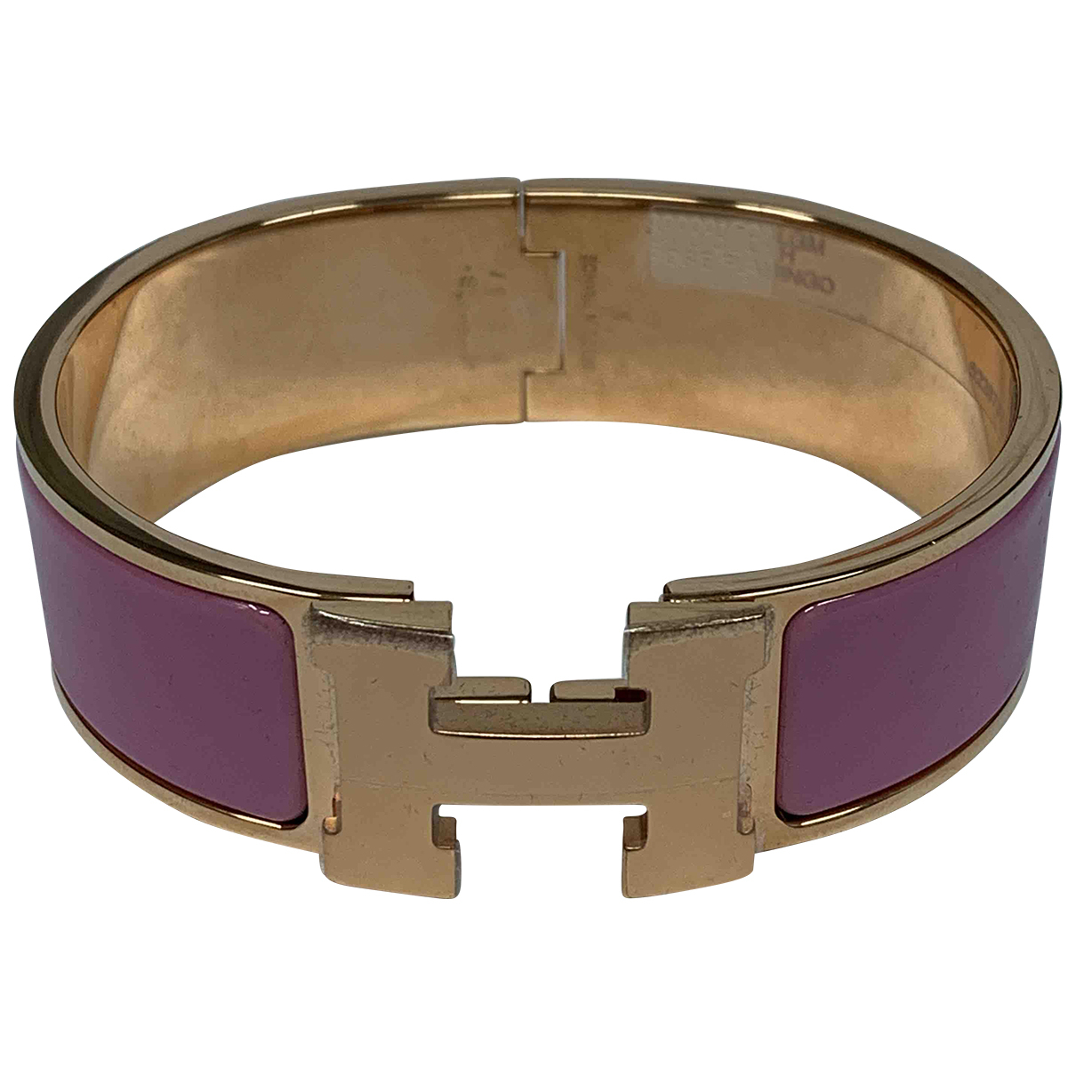 Hermès Clic H Pink Metal bracelet for Women N