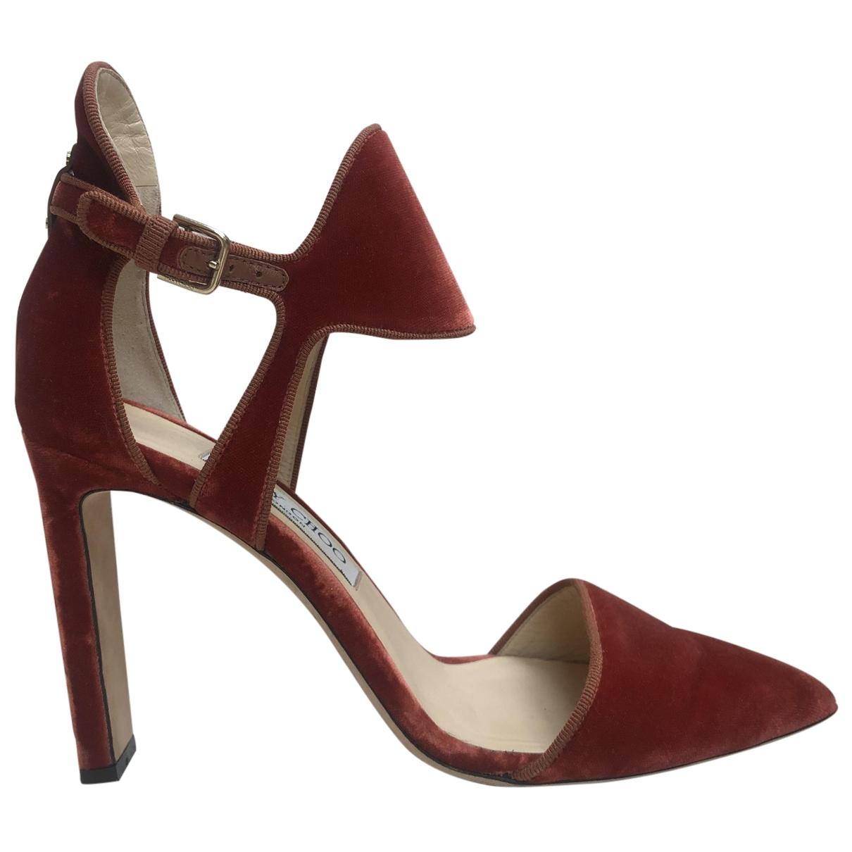 Jimmy Choo \N Orange Velvet Heels for Women 38 EU