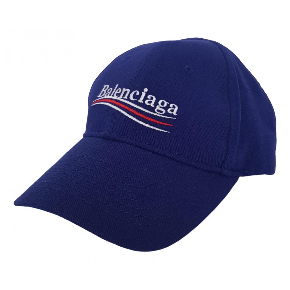 Balenciaga - Chapeau & Bonnets   pour homme en coton - bleu