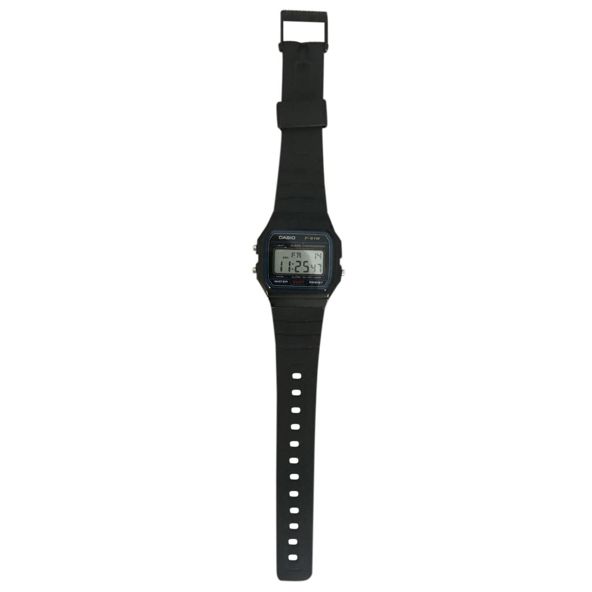 Casio - Montre   pour homme en acier - noir