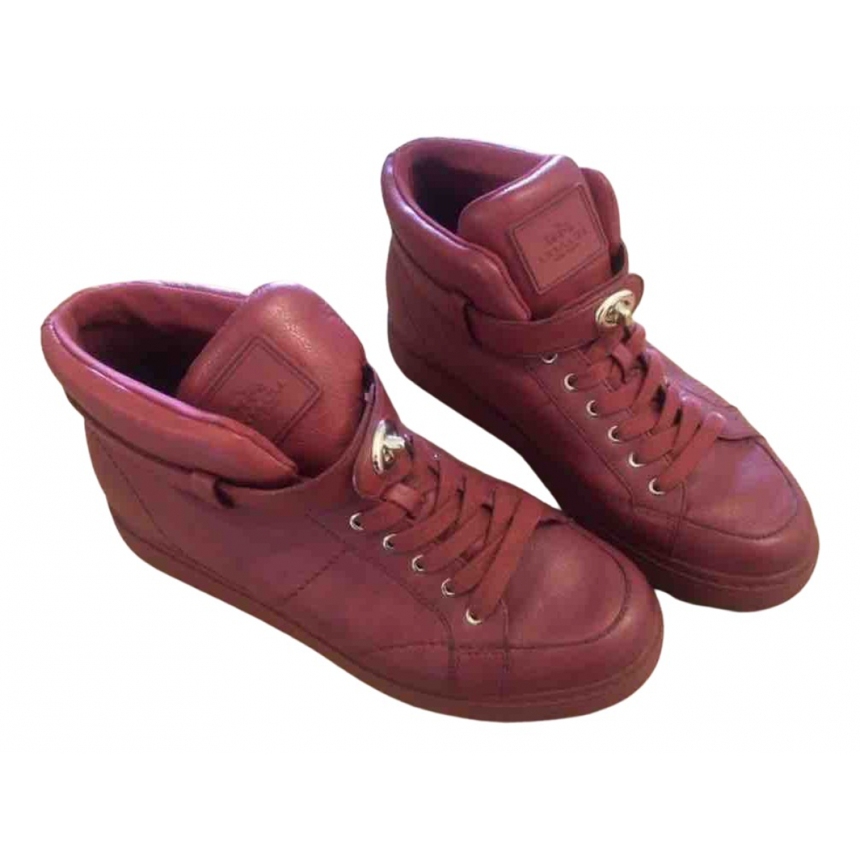 Coach N Red Leather Trainers for Women 7 US