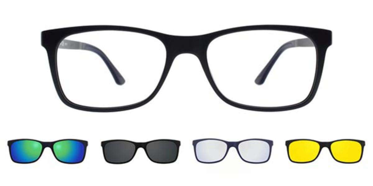 Rectangle Full Rim Plastic Men's Glasses Discount Online Black Size 53, Free Lenses, HSA/FSA Insurance, Blue Light Block Available - SmartBuy Collecti