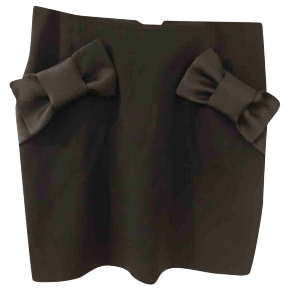 Claudie Pierlot \N Black Cotton skirt for Women 36 FR