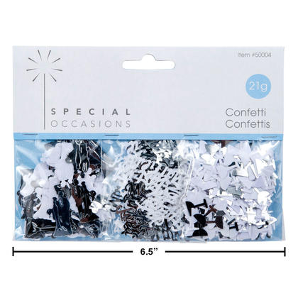 Wedding Confetti Metallic 21g