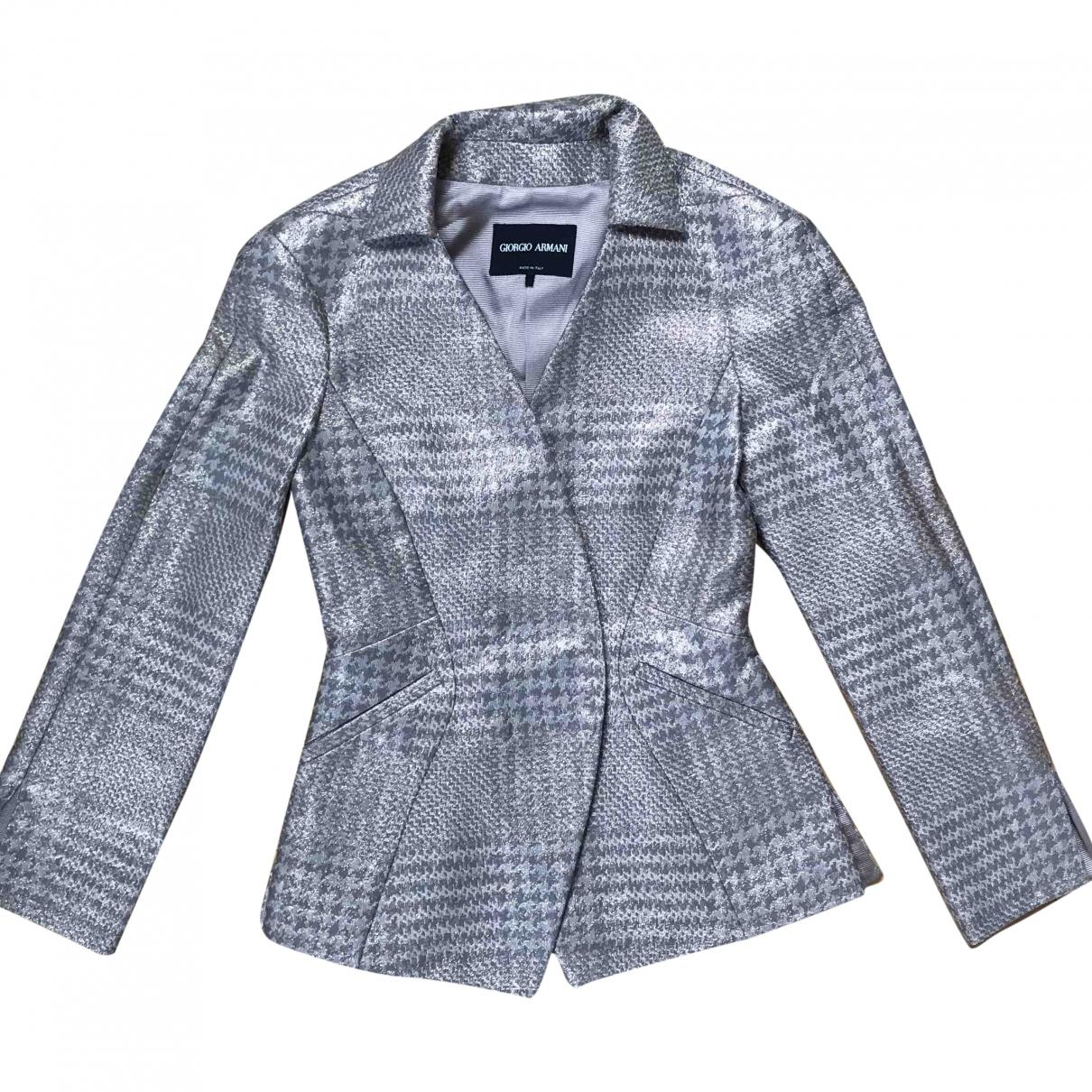 Giorgio Armani \N Grey Silk jacket for Women 36 IT