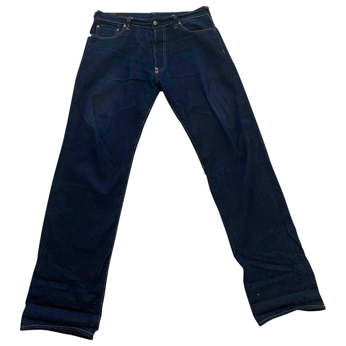 Evisu \N Blue Cotton Jeans for Men 34 US
