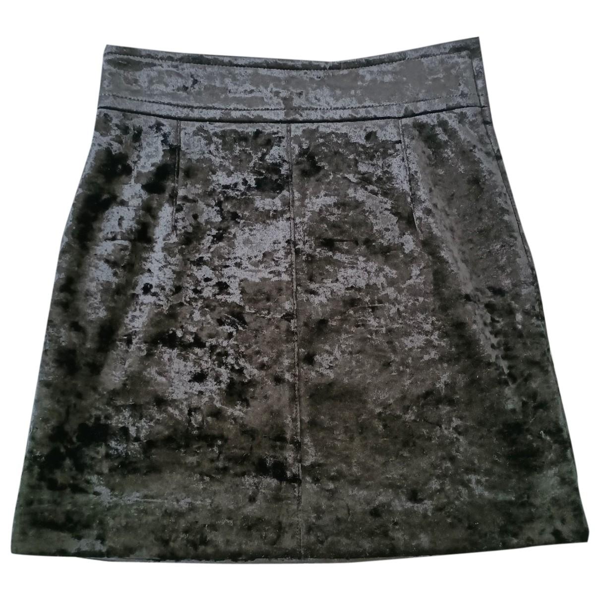 Sandro \N Black Velvet skirt for Women 1 0-5