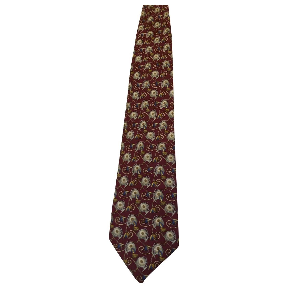 Fendi \N Burgundy Silk Ties for Men \N
