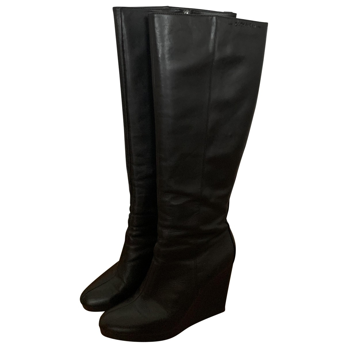 Calvin Klein \N Black Leather Boots for Women 39 EU