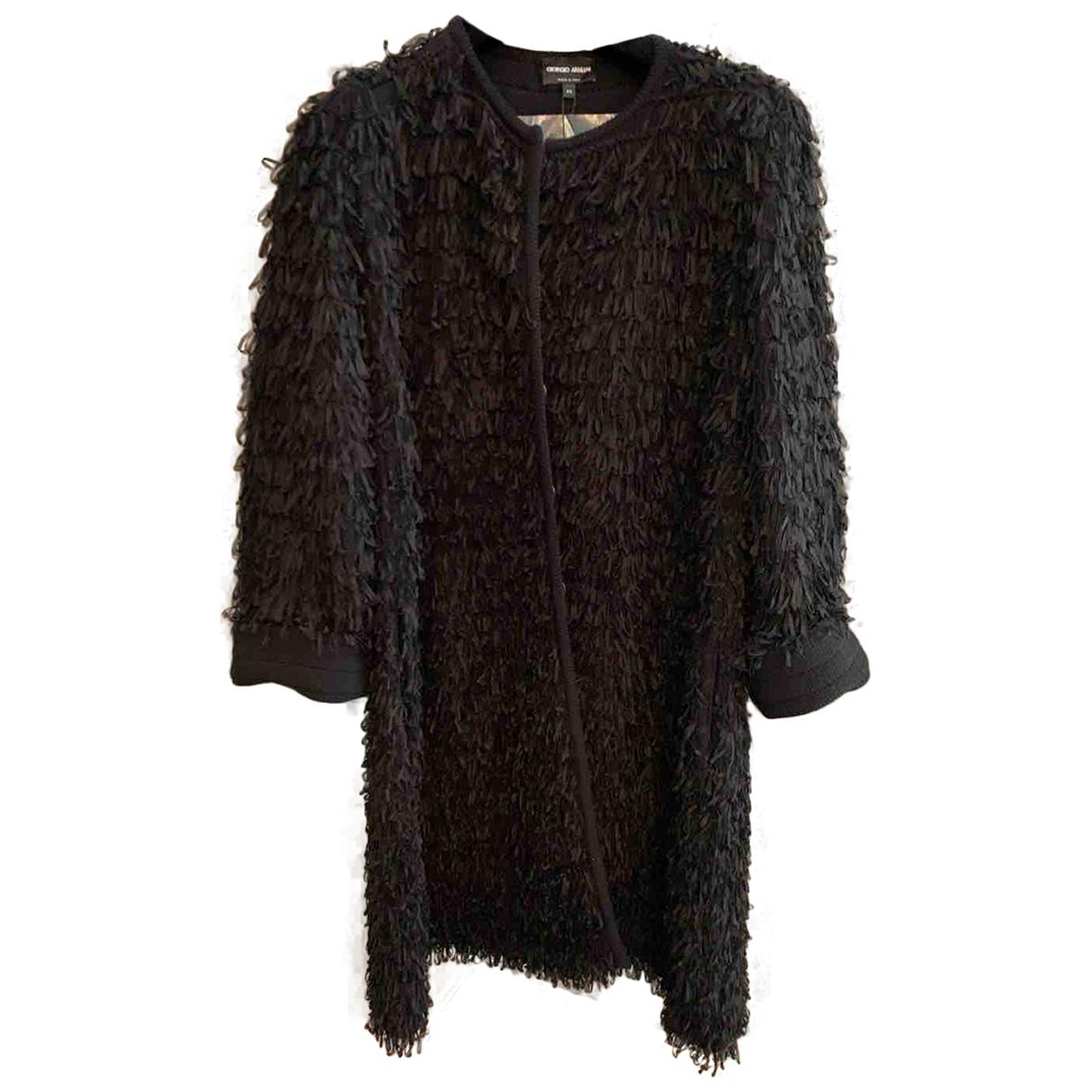 Giorgio Armani N Black Wool coat for Women 44 IT