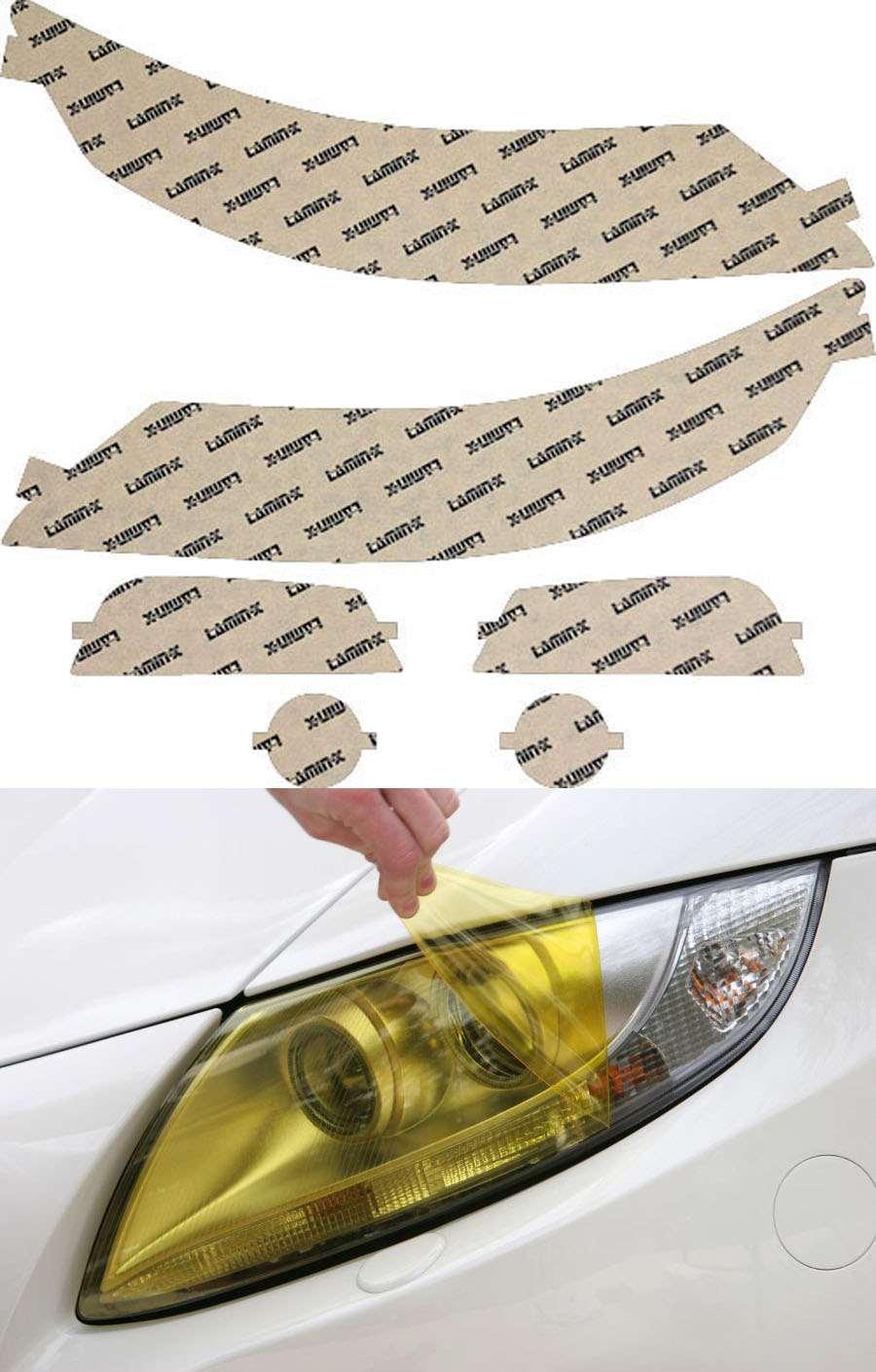Acura TL 12-14 Yellow Headlight Covers Lamin-X AC022Y