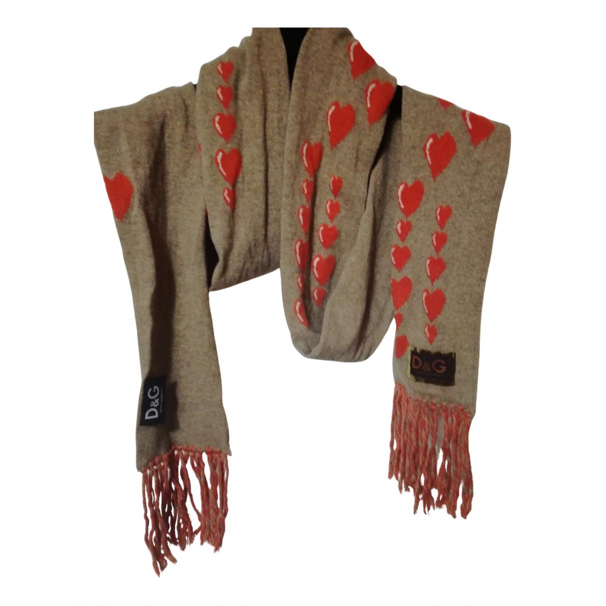 D&g - Foulard   pour femme en laine - beige