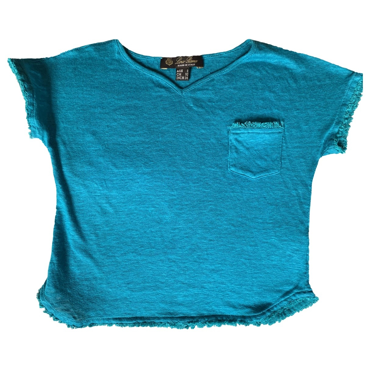 Loro Piana \N Turquoise Linen  top for Kids 2 years - up to 86cm FR