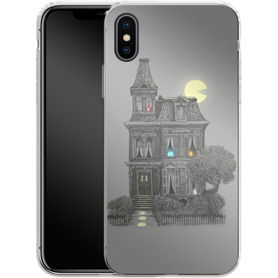 Apple iPhone X Silikon Handyhuelle - Haunted By The 80s von Terry Fan