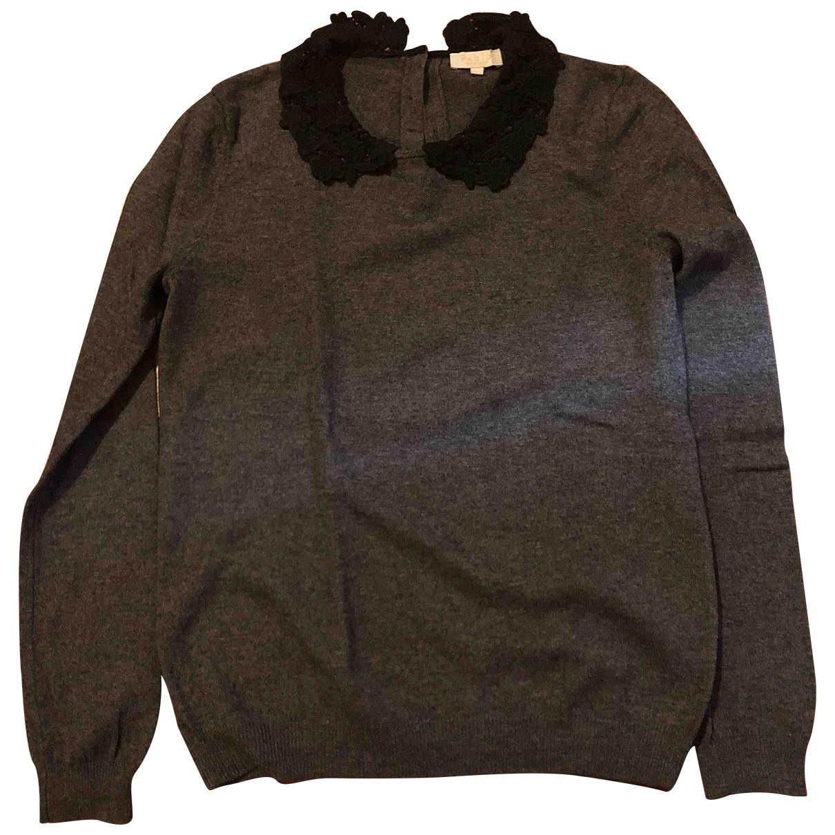 Pablo - Pull   pour femme en laine - gris