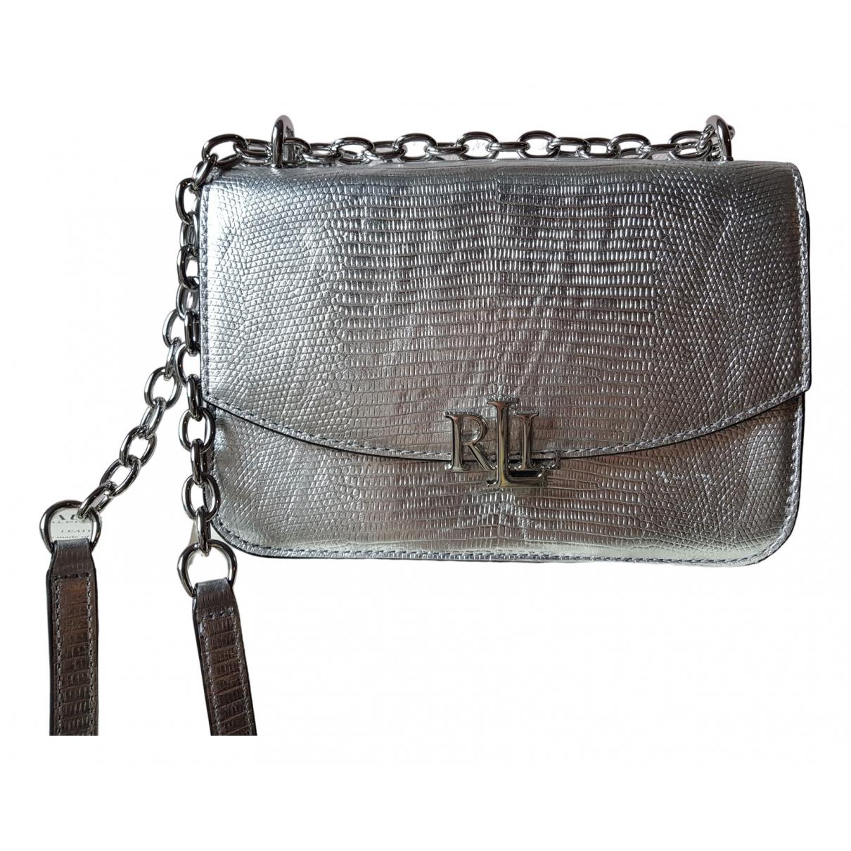 Lauren Ralph Lauren \N Handtasche in  Silber Leder