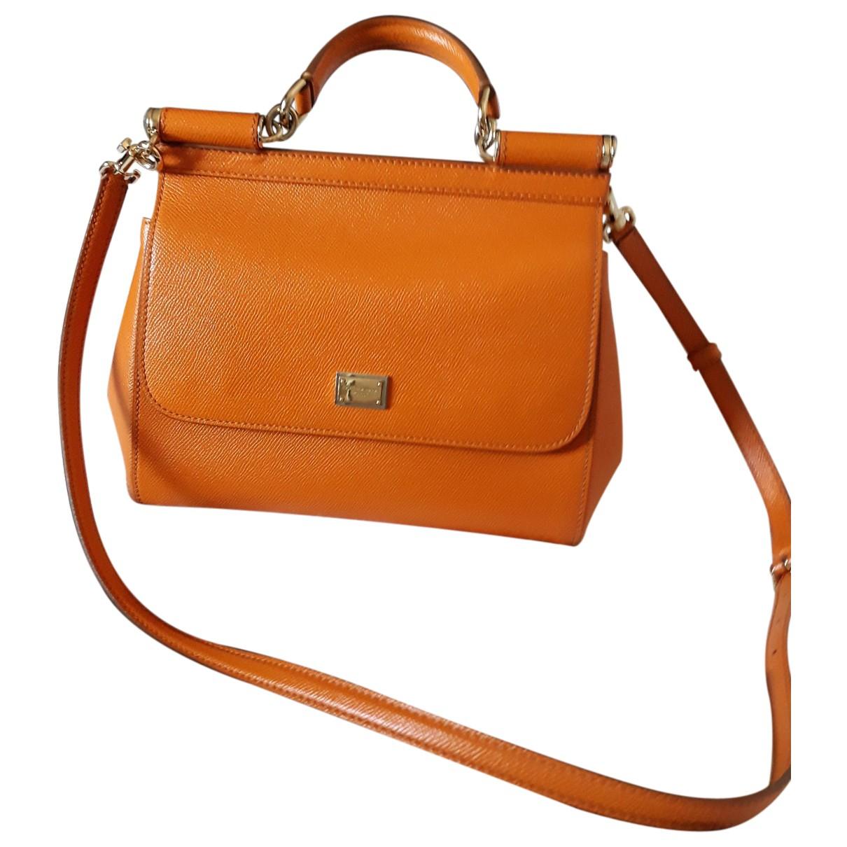 Dolce & Gabbana Sicily Orange Leather handbag for Women \N