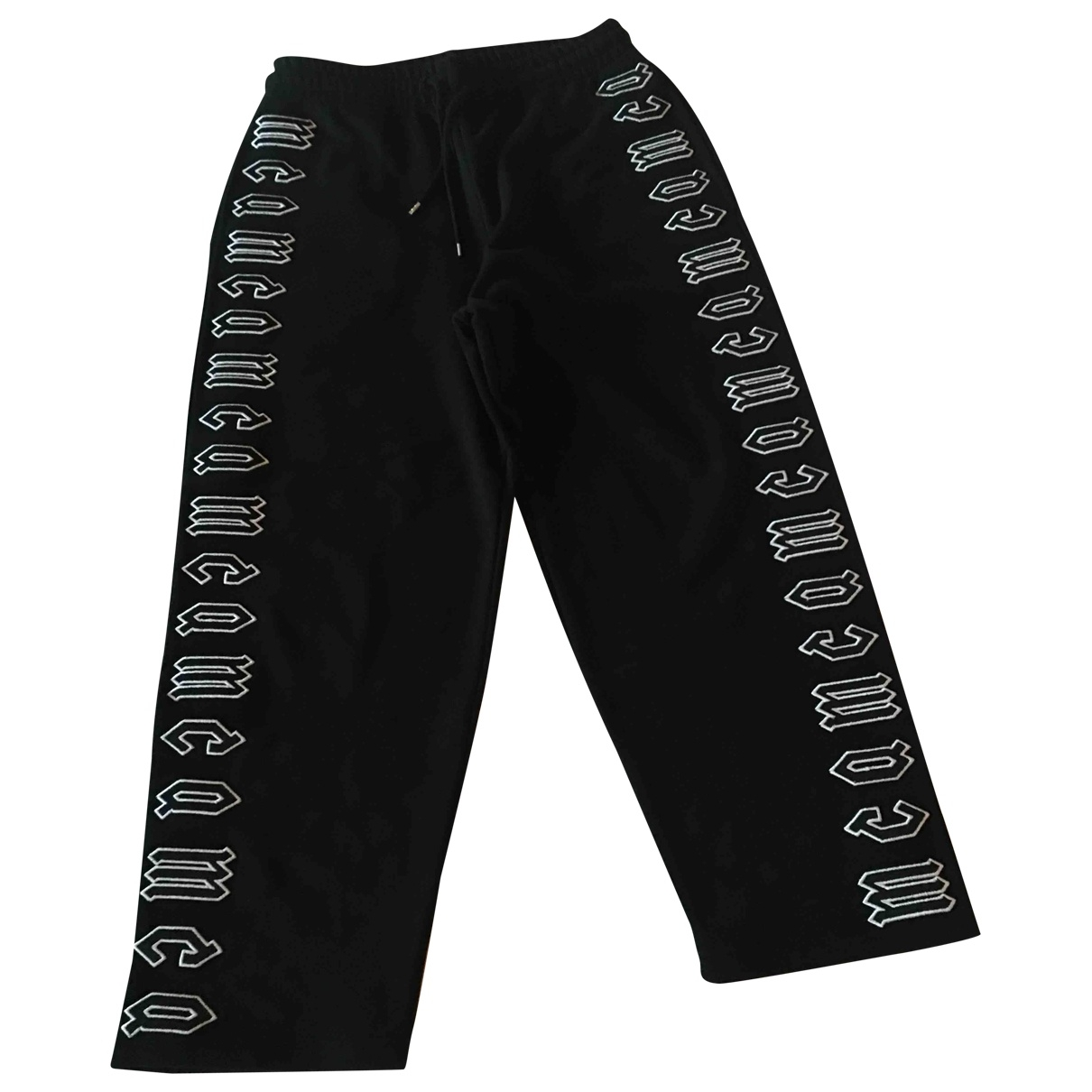 Mcq \N Black Cotton Trousers for Women L International