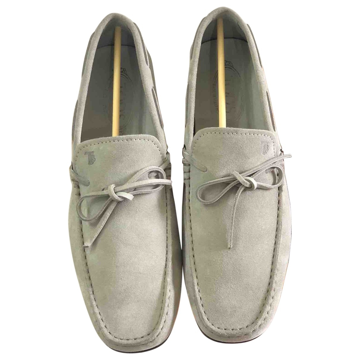 Tod's \N Grey Suede Flats for Men 9.5 UK