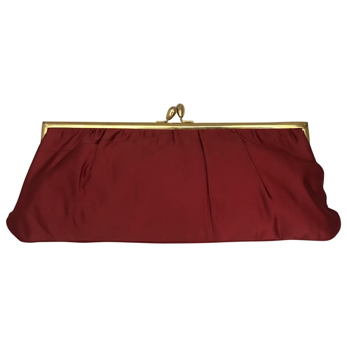 Non Signé / Unsigned \N Burgundy Silk handbag for Women \N