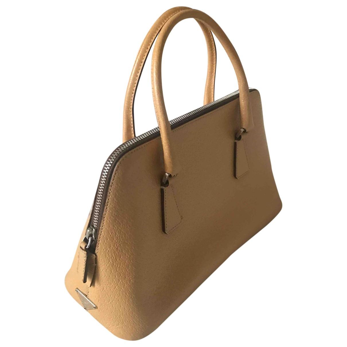 Prada Promenade Beige Leather handbag for Women \N