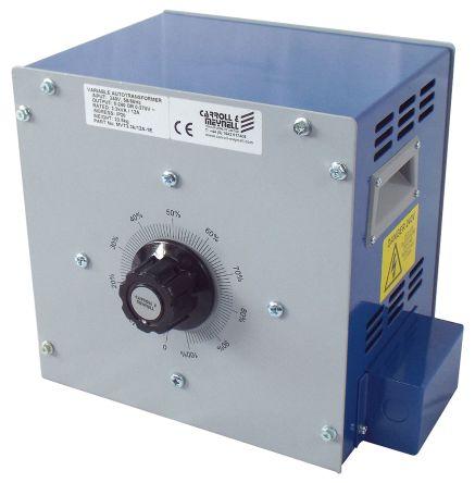 Carroll & Meynell 1 Phase 4.9kVA Variac, 1 Output, 240V