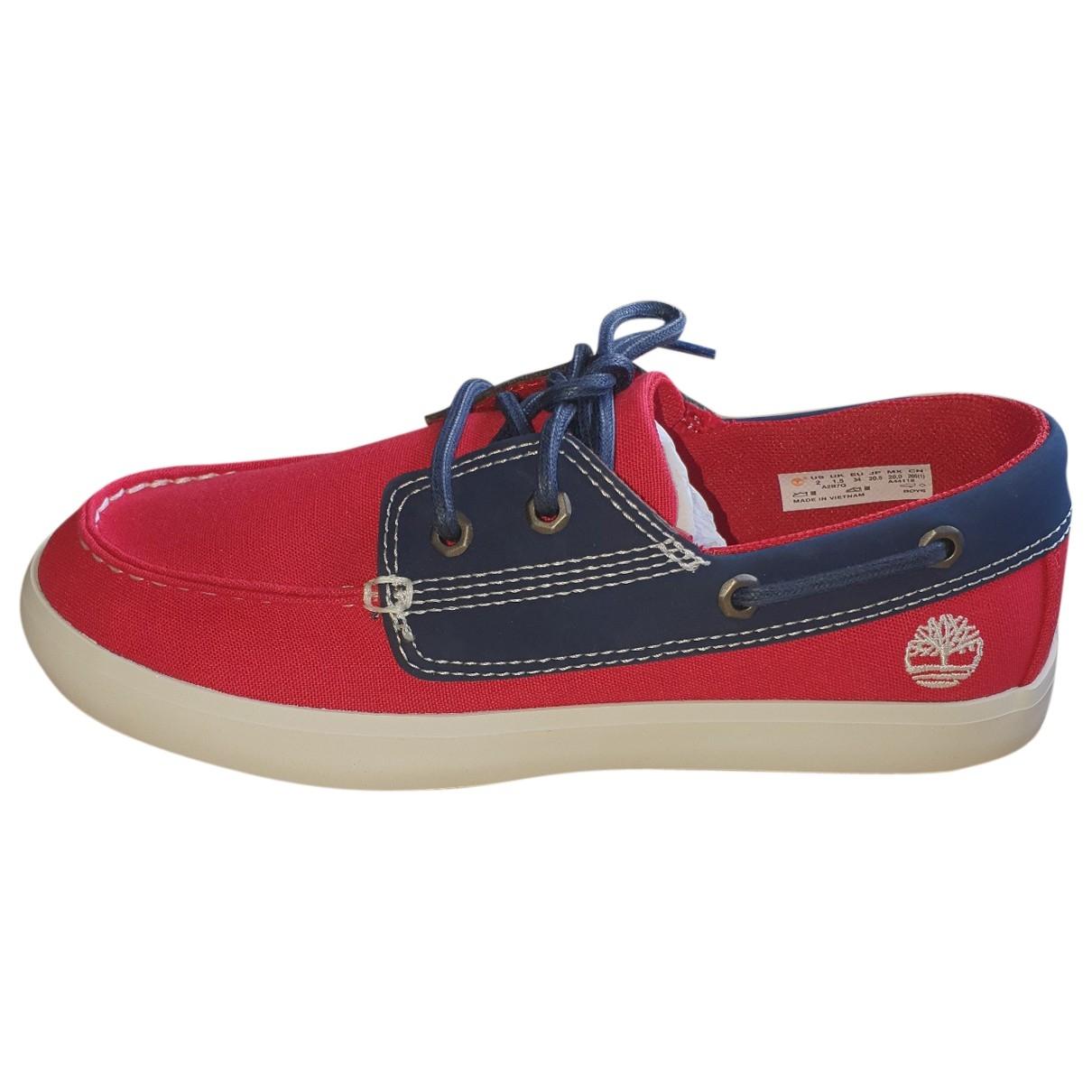 Timberland \N Red Cloth Flats for Kids 34 EU