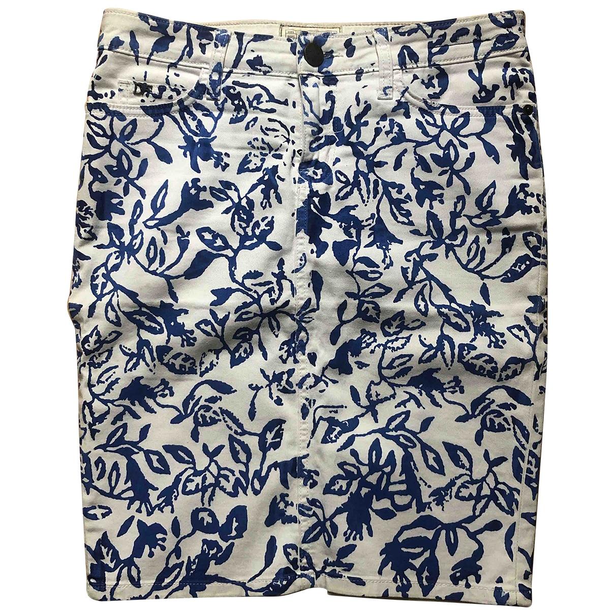 Diane Von Furstenberg \N White Cotton - elasthane skirt for Women XS International