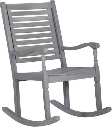 OWRCGW Patio Wood Rocking Chair in Gray
