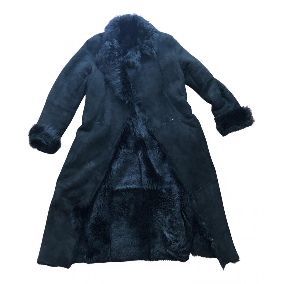 Et Vous - Manteau   pour femme en mouton - noir