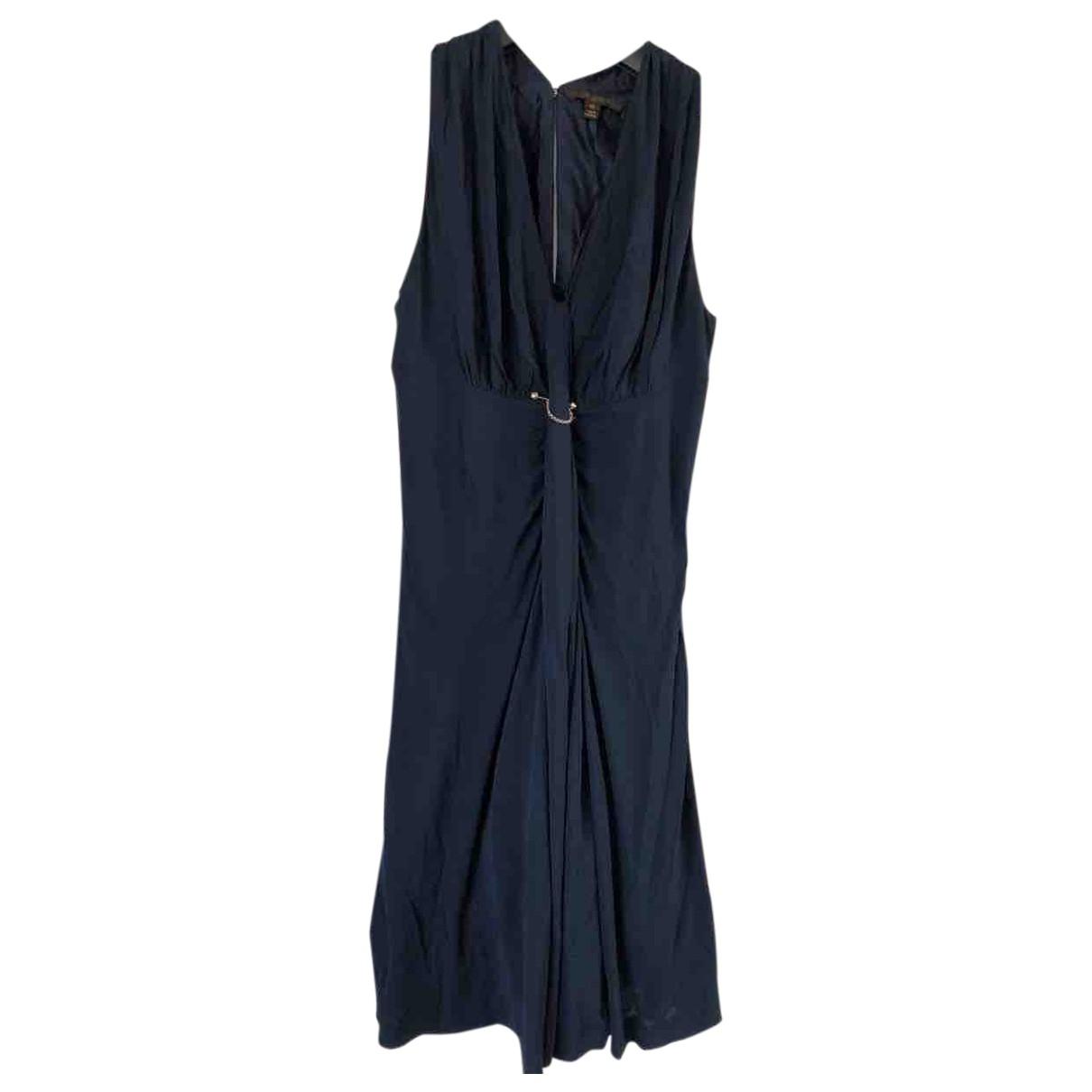 Louis Vuitton \N Kleid in  Marine Viskose