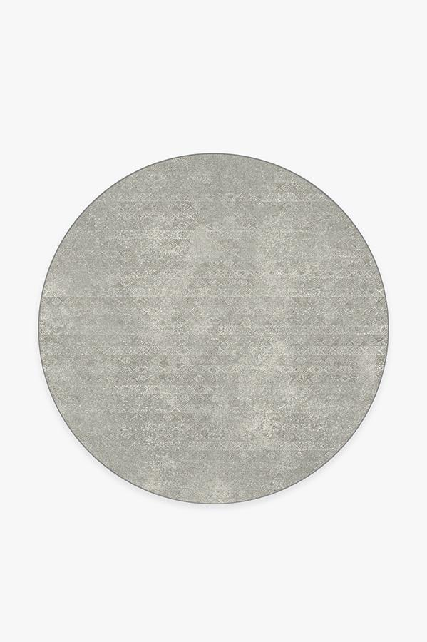 Washable Rug Cover & Pad | Gabbeh Grey Rug | Stain-Resistant | Ruggable | 6' Round