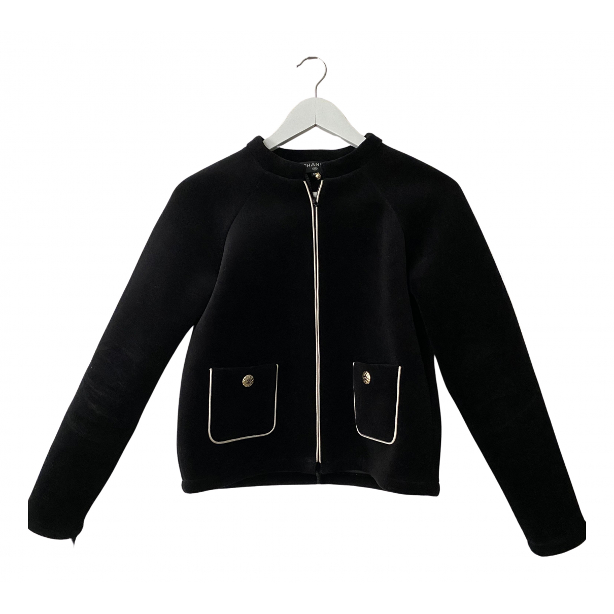 Chanel - Blouson   pour femme en coton - noir